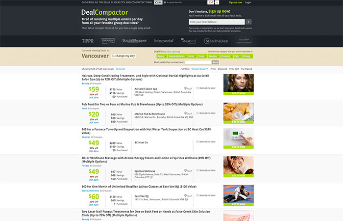 Dealcompactor - Deal aggregator